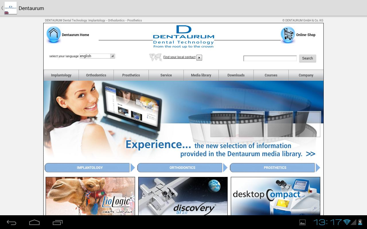 DENTAURUM Dental Products - screenshot
