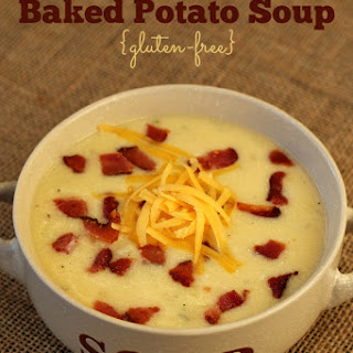 Cheesy Baked Potato Soup {Gluten-free}