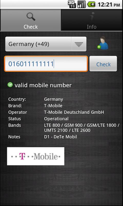 Mobile Network Provider Finder- screenshot
