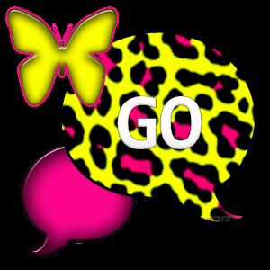 GO SMS THEME/NeonLeopard2