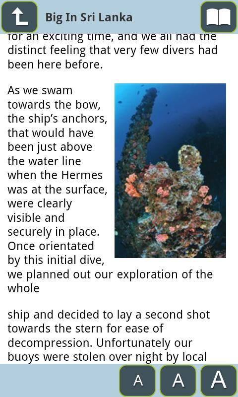 DIVE Magazine - screenshot