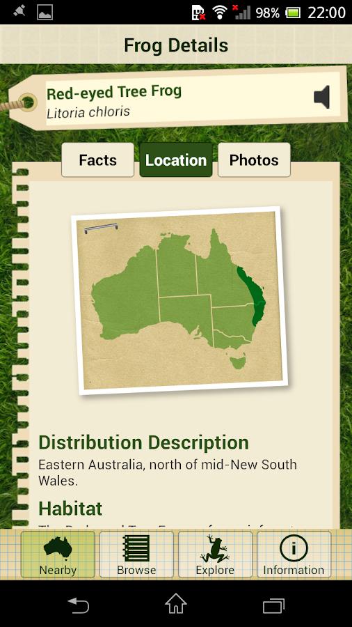 Frogs Field Guide - screenshot