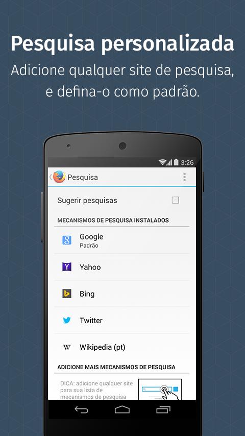 Firefox para Android - screenshot