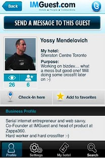 IMGuest - Hotel Social Network- screenshot thumbnail
