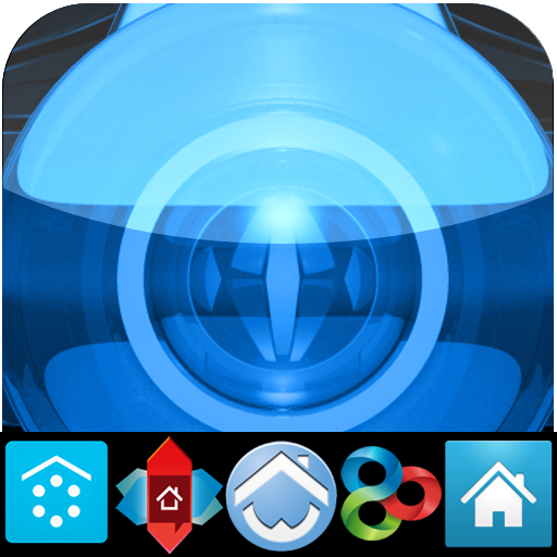 BLUE LUXURY (adw apex nova go) LOGO-APP點子