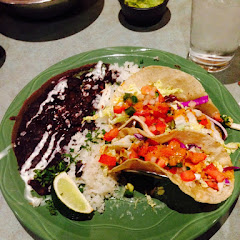 Shrimp Taco prepared gluten free with a corn tortilla. Delicious.