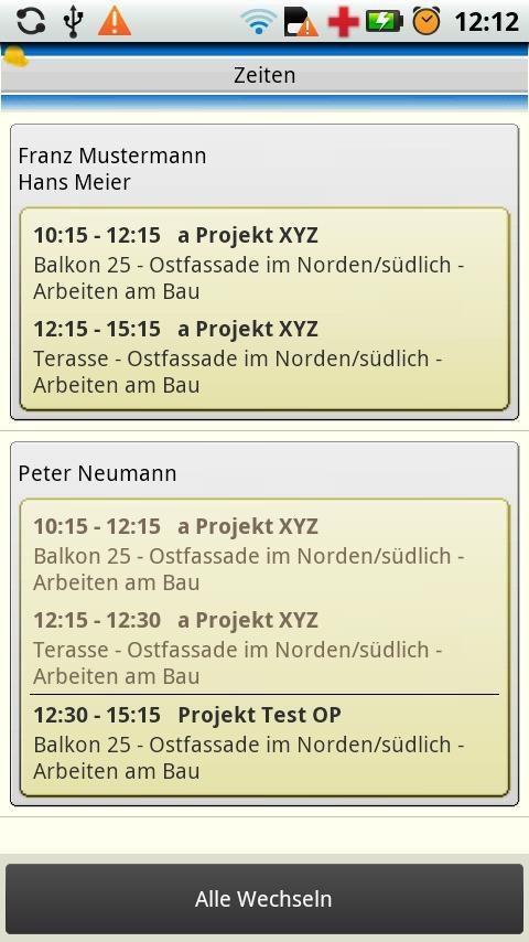 123erfasst v2.0 - screenshot