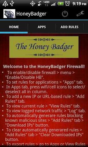 HoneyBadger Firewall