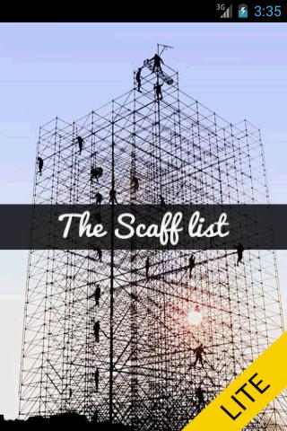The Scafflist Lite