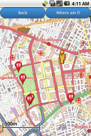 Tokyo Amenities Map free