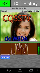 DroidSSTV - SSTV for Ham Radio - screenshot thumbnail
