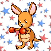 Kangaroo boxer Wallpaper