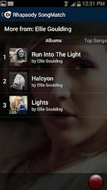 Rhapsody SongMatch Screenshot 4