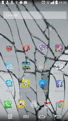 Shattered Glass Icon Pack
