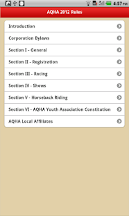 AQHA Rules - screenshot thumbnail