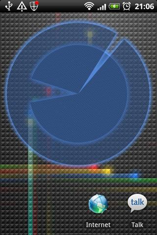 Polarizer Analog Clock: Blue - screenshot