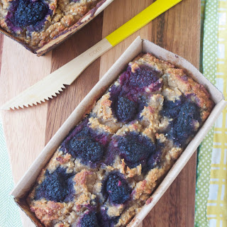 Gluten Free Banana Blackberry Bread #NationalHeartMonth.