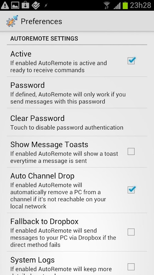 AutoRemote - screenshot