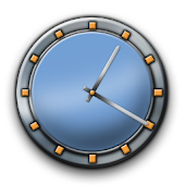 Metal Buttons:Blue Clock