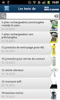 Screenshot of Les tests de Bon à Savoir