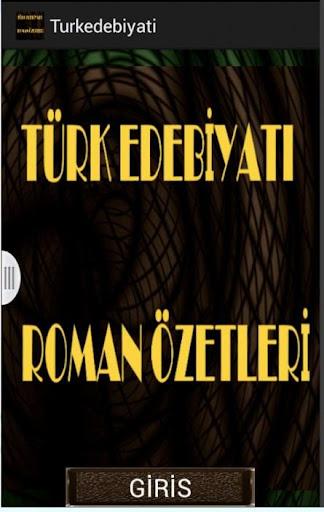 TÜRK EDEBİYATI ROMAN ÖZETLERİ