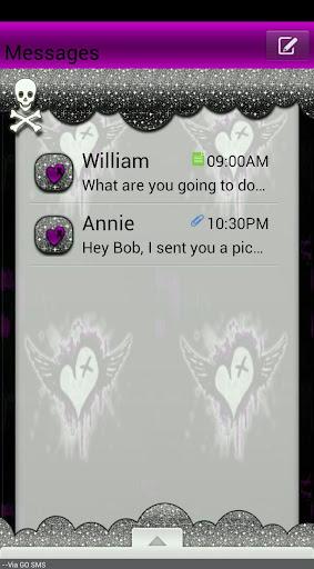 GO SMS THEME GhostlySkulls4U