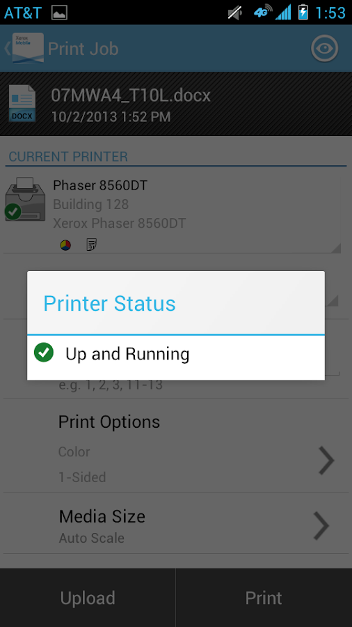 Xerox Print Portal - screenshot