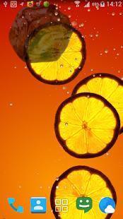 Orange juice live wallpapers screenshot