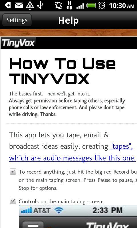TinyVox Pro- screenshot