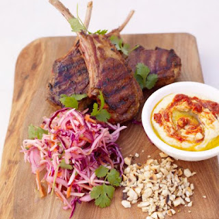 Grilled Moroccan lamb chops.