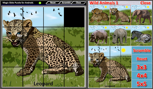 Magic Slide Puzzle W.Animals 1 Screenshot 10
