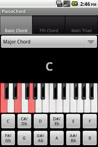 Piano Chords- screenshot