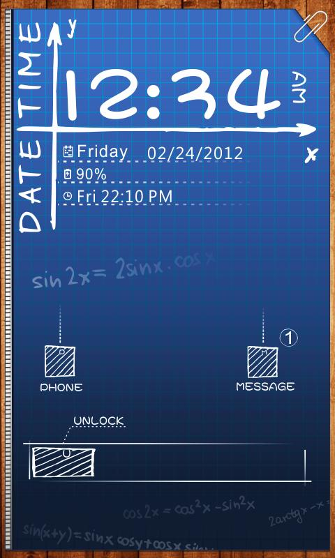 Sketch GO Locker Theme - screenshot