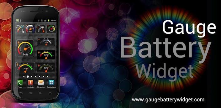 Скачать Gauge Battery Widget - необычный виджет батареи
