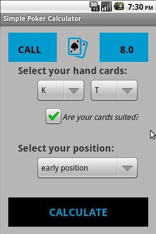 Simple Poker Calculator