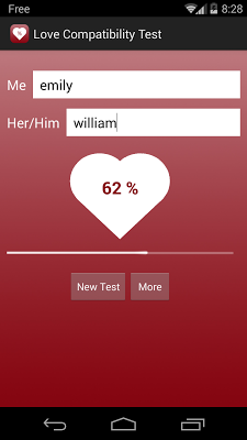Love Compatibility Test - screenshot
