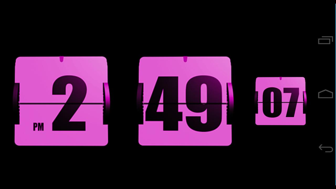 3D Animated Flip Clock PINK- screenshot