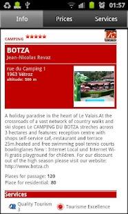 Campings Valais-Wallis- screenshot thumbnail
