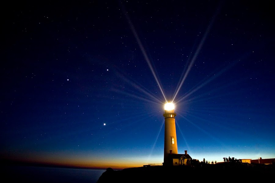 Lighthouse night beams by Gale Perry - Buildings & Architecture Other Exteriors ( , Earth, Light, Landscapes, Views, #GARYFONGDRAMATICLIGHT, #WTFBOBDAVIS )