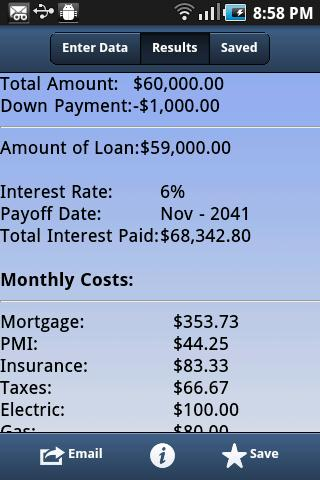 Mortgage Pal- screenshot