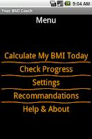 Screenshot of Your BMI Coach