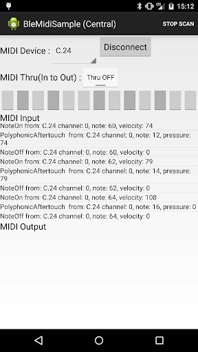 BLE MIDI Sample App