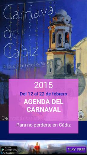 Agenda Carnaval Cádiz 2015