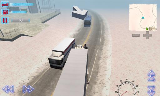 卡車司機3D阿拉斯加冬季道路