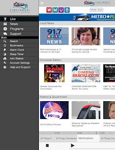 WMUB Public Radio App- screenshot thumbnail