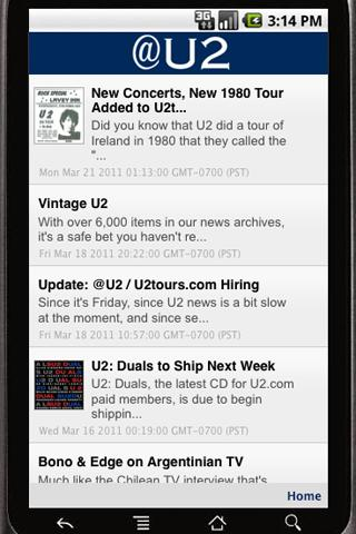 @U2 - screenshot