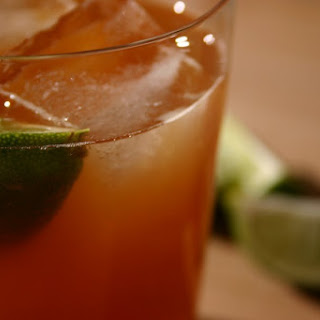 Dark and Stormy Cocktail.