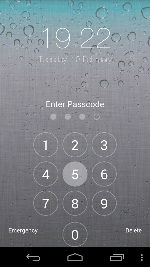 Fake iPhone 5s ios Lock Screen - screenshot