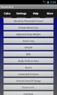 NurseCalcs- screenshot thumbnail