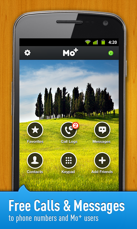 Free Calls & Text by Mo+- screenshot
